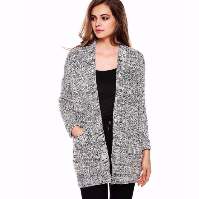 New Fashion Women Long Sleeve Casual Cardigan Loose Long Knit Sweater