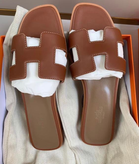14c832419a73 NEW! Hermes Oran Sandals in Gold size 37, Women's Fashion, Shoes ...