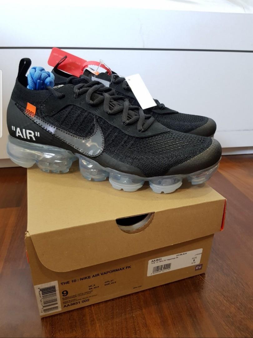 8ac48b6f73 Nike Off White Vapormax Black, Men's Fashion, Footwear, Sneakers on ...