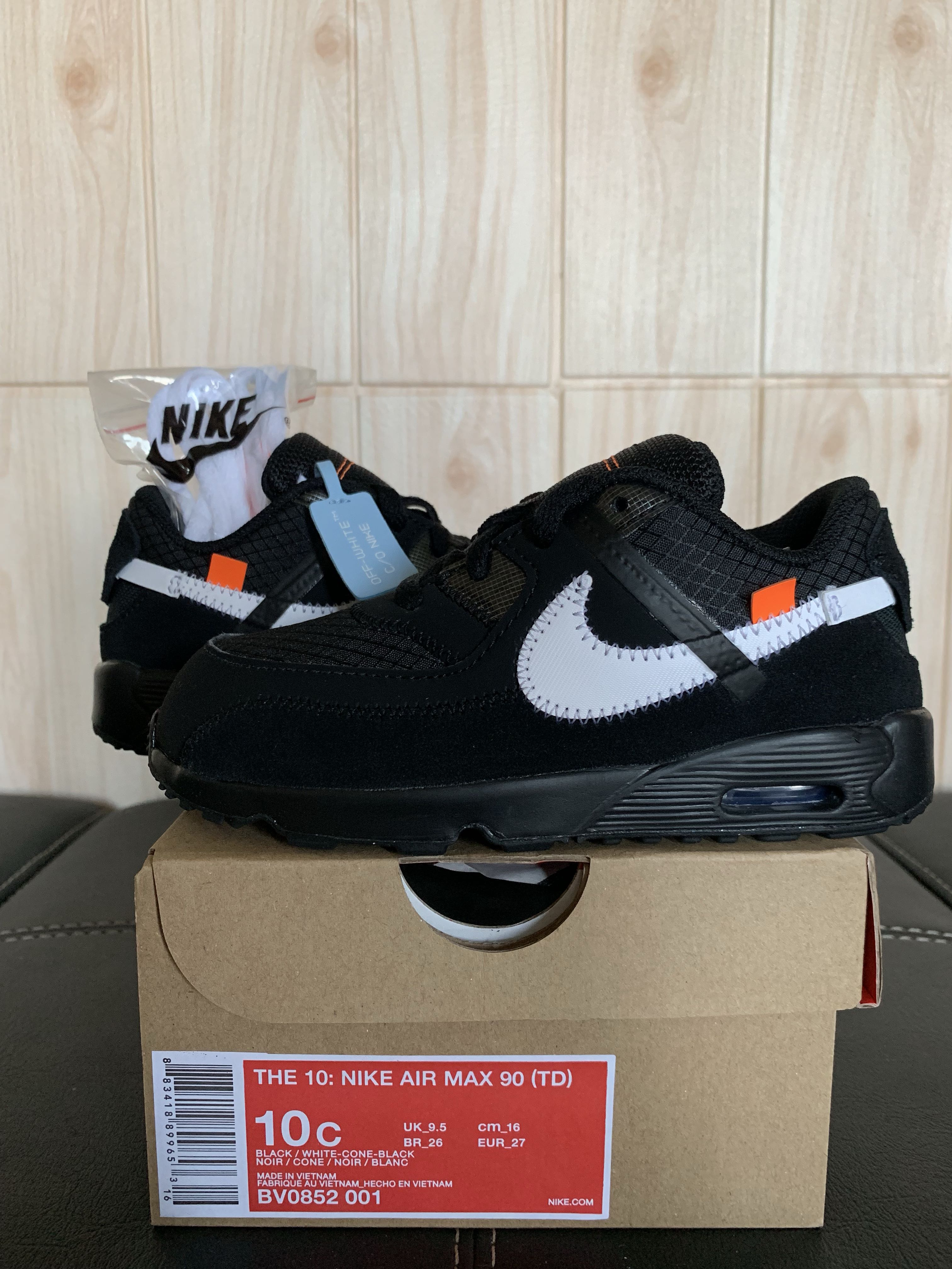 3d1011eb OFF-WHITE AIR MAX 90 (TD) 10C, Men's Fashion, Footwear, Sneakers on  Carousell