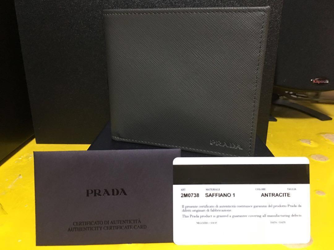 564ac845 Prada Saffiano Men's Wallet 2M0738 Anthracite
