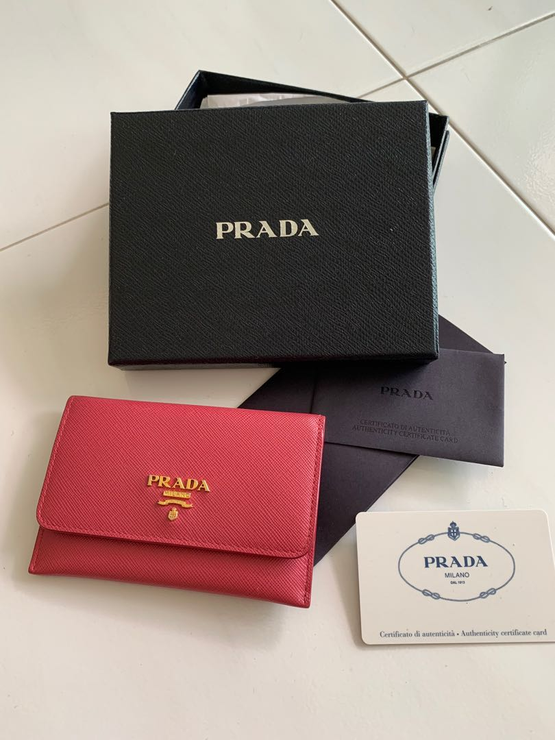 9679eb9243a6 Prada Saffiano Wallet, Luxury, Bags & Wallets, Others on Carousell