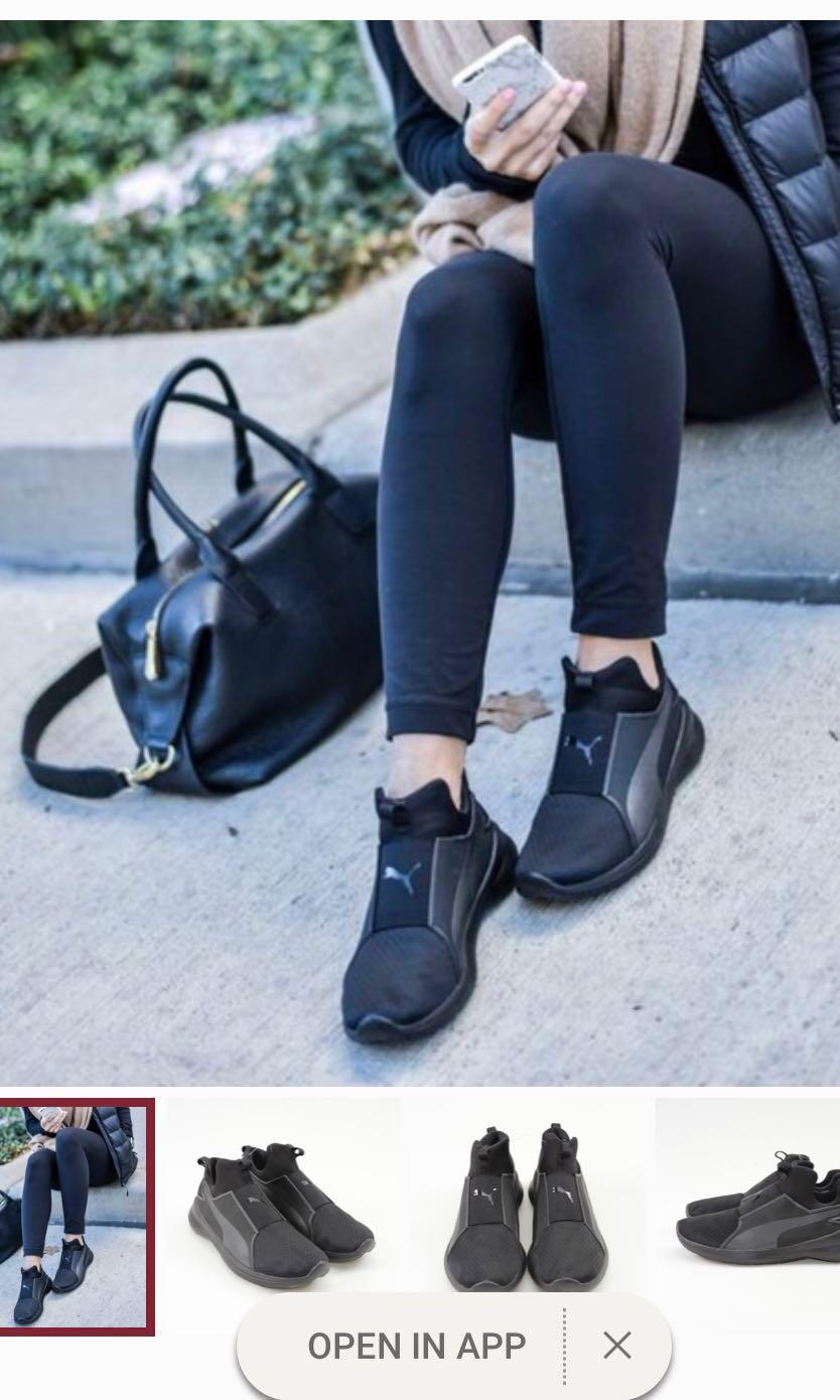 cb1ee744040c Puma rebel mid ankle slip on sneakers