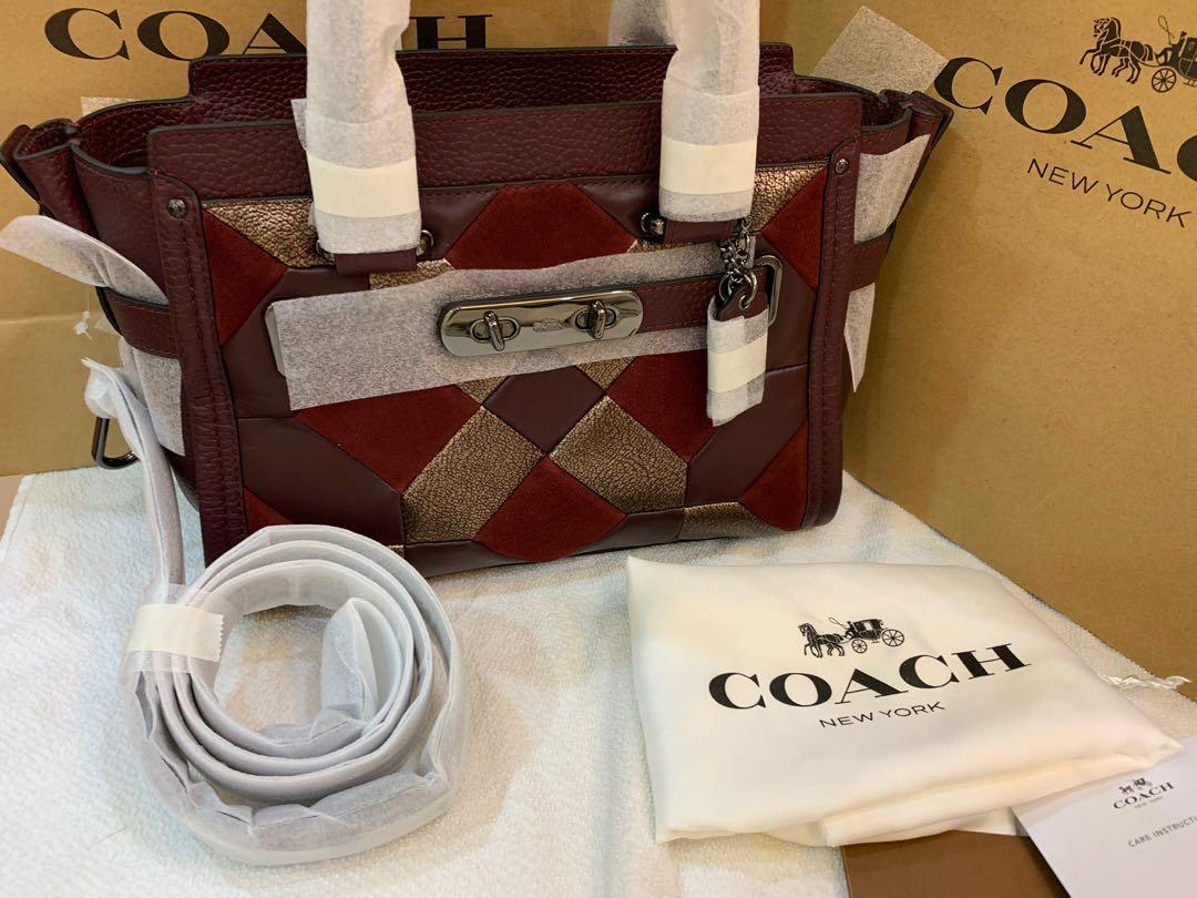Ready stock original coach women swagger medium special edition 21 handbag