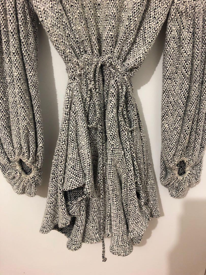Shona Joy Bonnie Balloon Sleeve Drawstring Mini Dress
