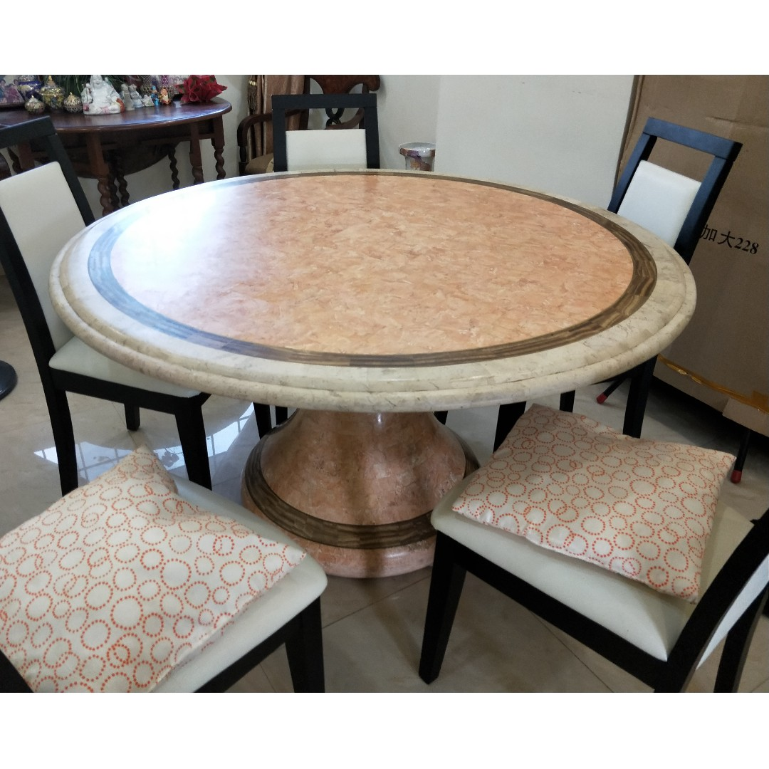 Lovely Quartz Dining Table 5 Chairs Furniture Tables Chairs On