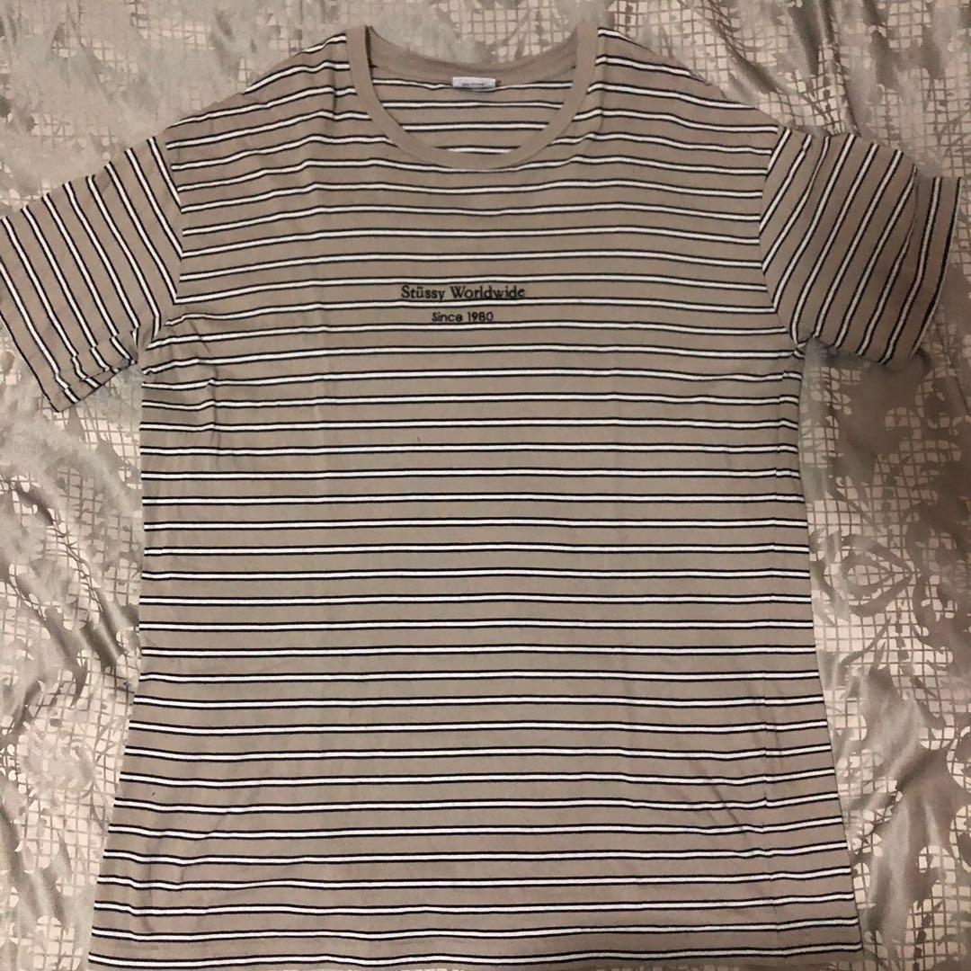 Striped Stussy Shirt Grey