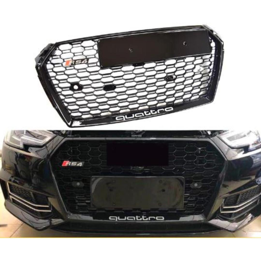 Suitable for Audi A4 S4 RS4 Sline Front Grill , 2017 - 2019