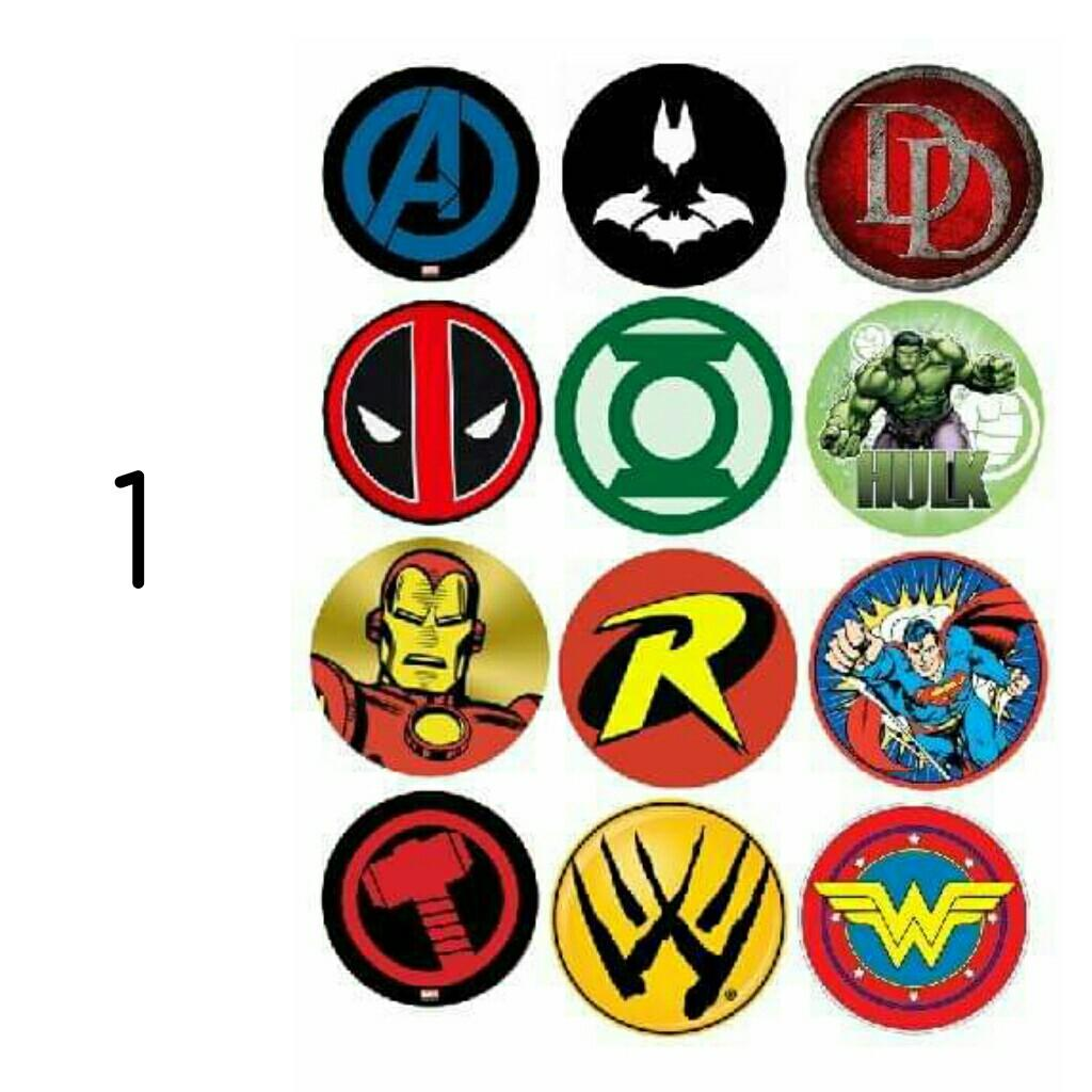 Super Hero Logo VINYL STICKERS - (for car, motorcycle, gadgets, etc.) LAMINATED/WATERPROOF/REMOVABLE