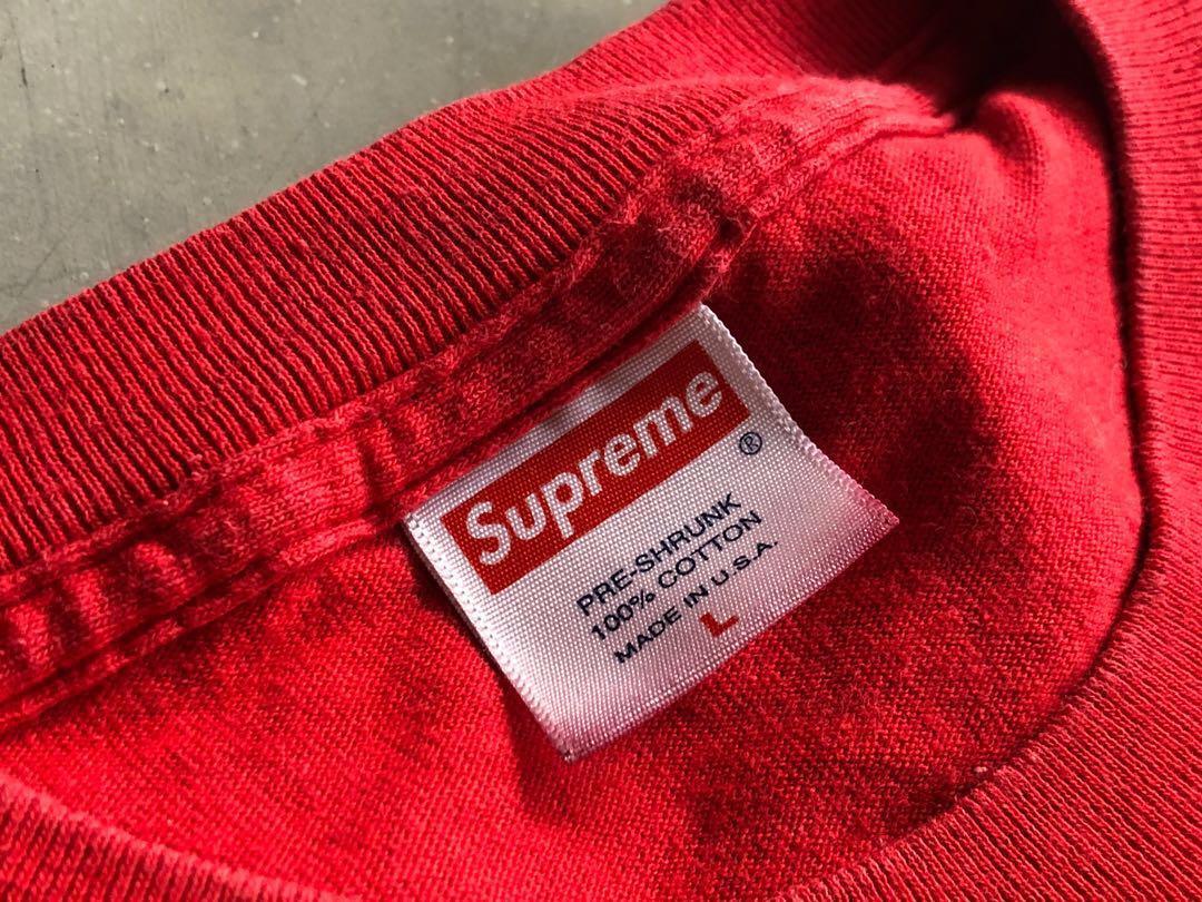 Supreme box 911 logo tee L