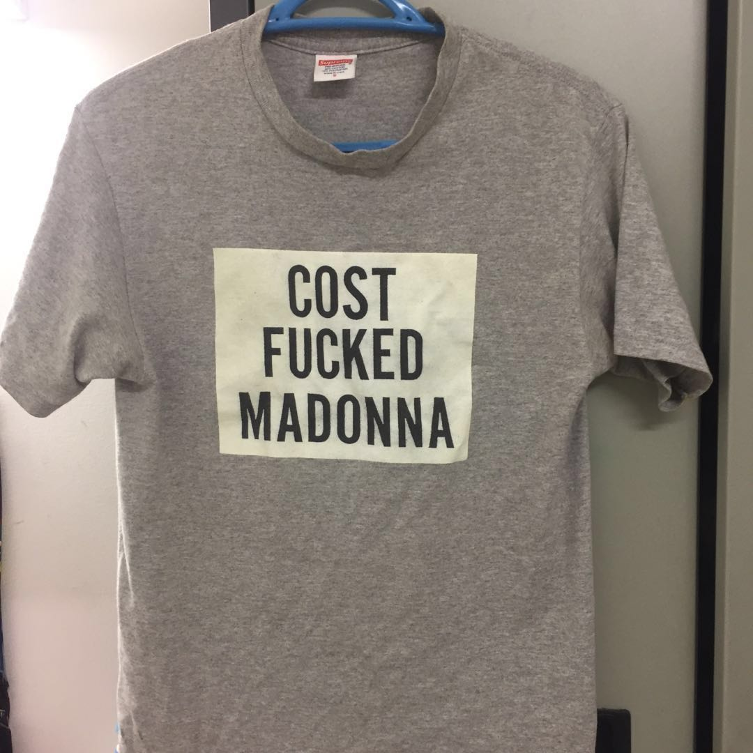 6e497153 Supreme cost fuck madonna, Men's Fashion, Clothes, Others on Carousell