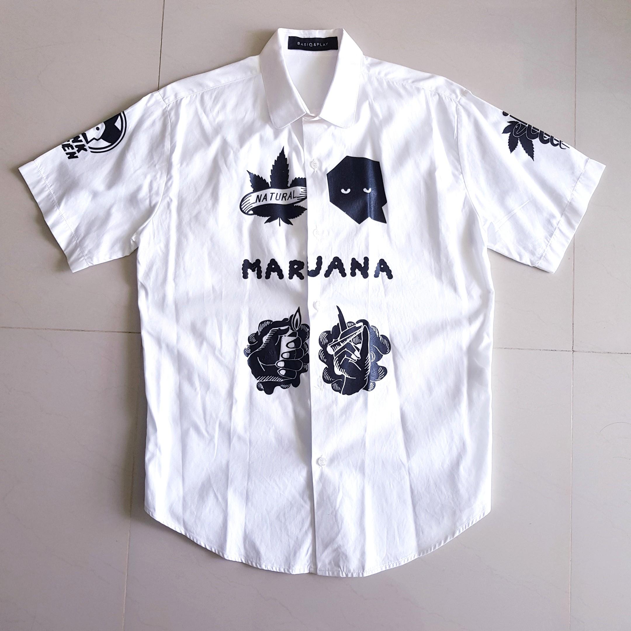 b8e2b2f480e Thai designer printed short sleeve shirt