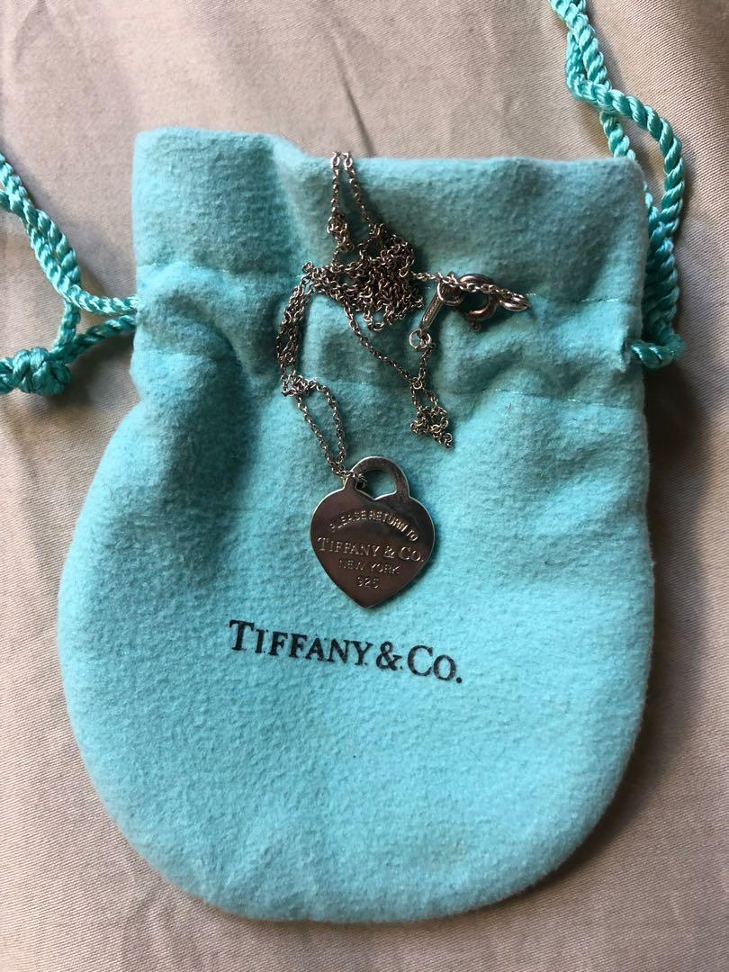 Tiffany & Co. heart necklace and chain