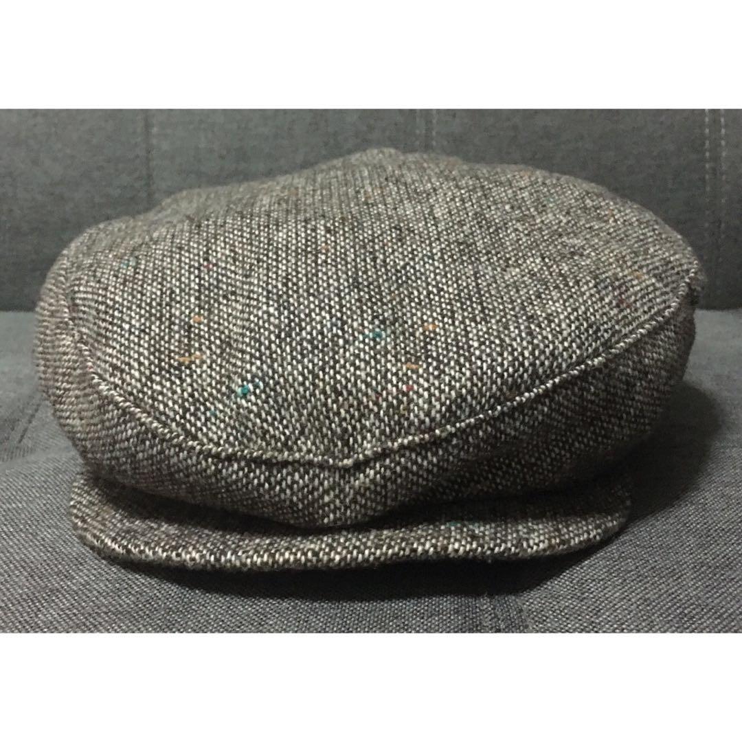 8168fe34edd46 VINTAGE NEW YORK HAT CO NEWS BOY BAKER BOY CAP MADE IN USA RARE ...