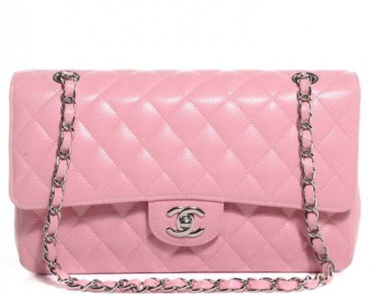 WANTING TO BUY - Chanel Medium Classic Flap In Pink  Caviar