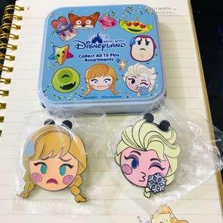Disney Pin 香港迪士尼神秘盒徽章 魔雪奇緣 艾莎安娜 Elsa Anna Frozen