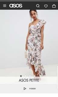 Asos light floral maxi dress
