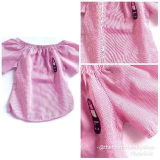 50 only! Lipstick blouse that fits 18 to 24 mos!