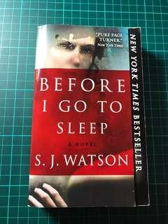 S.J. Watson Before I go to sleep