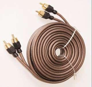 鍍金純銅RCA 2對2 訊號線 3米