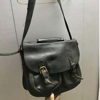 全真皮美製vintage messenger bag 古著 Satchel laptop bag