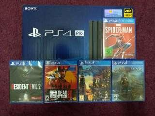 SONY PlayStation PS4 PRO 1TB With 5 Games Bundle (Brand New Local Warranty Set)