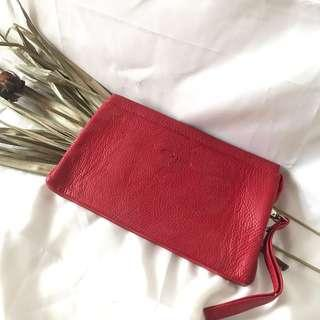 EMRO RED POUCH Woman Fashion
