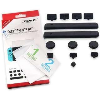 Nintendo Switch Dobe Rubber Plug Dust Proof Kit + Screen Protector