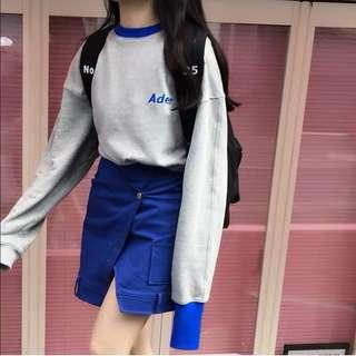 🚚 Po: ader grey pullover and blue skirt