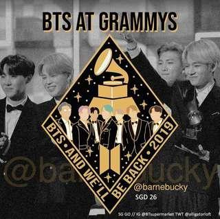 🚚 (Sg GO) BTS Grammy Enamel Pin @barnebucky