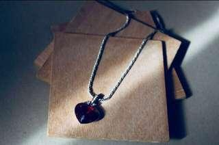 Swarovski Ruby Necklace