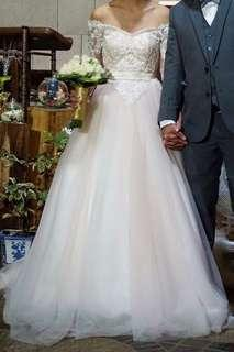 Off white wedding gown
