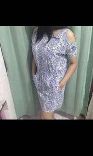Dress women flowers blue