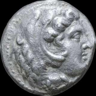 🚚 Alexander III 'the Great' Silver Tetradrachm, Lifetime issue, 325 - 323 BC