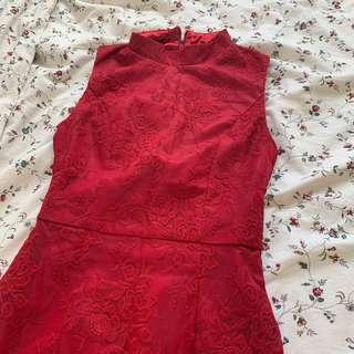 🚚 MGP Label Red Lace Dress