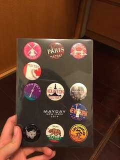 五月天第二人生巡迴演唱會各站代表徽章 收藏組