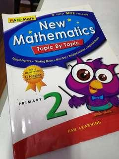 🚚 Foc bless give: 50% left unused P2 Math assessment book.
