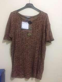 ZARA WOMEN Knit top with button