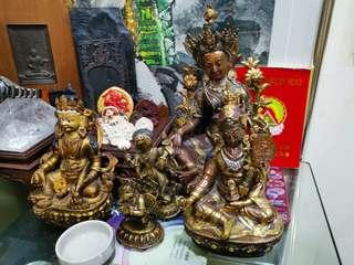 All 4 preloved Tibetan Statue to let. The Garuda in the pic is sold.