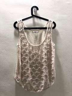 Sequinned sheer outerwear/top