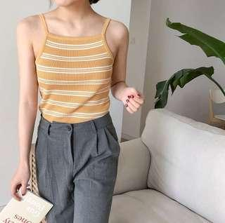 [po] tumblr basic striped halter top