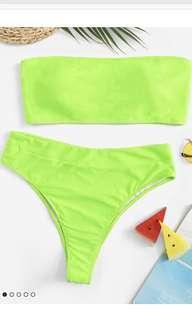 Lime green bikini