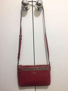Coach - Red crossbody bag