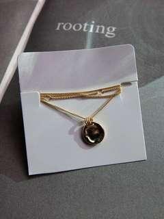 925純銀圓盤項鍊