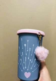 Starbucks Valentine 12oz SS Purple W/Heart Charm