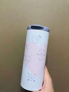 Starbucks Valentine 12oz SS White W/Pink Heart