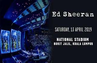 2x Ed Sheeran KL tickets Apr13 2019