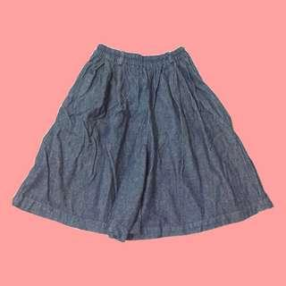 Denim Skirt Short Square Pants