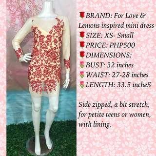FOR LOVE & LEMONS INSP DRESS