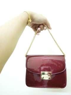 Red Sling Clutch Dinner Bag